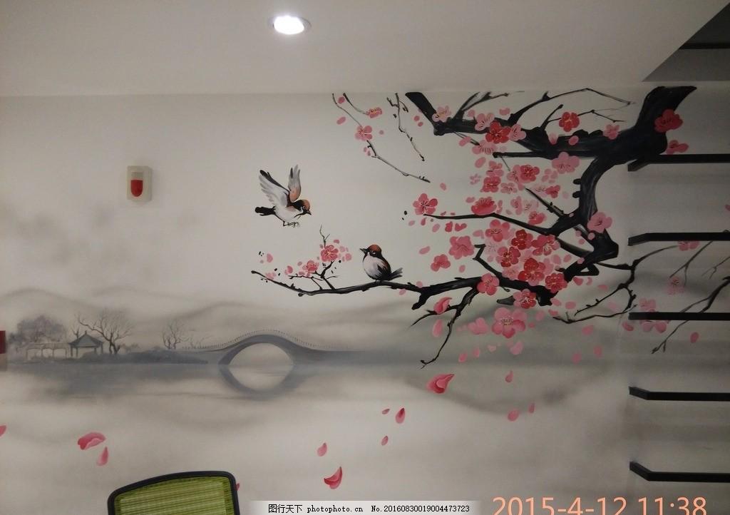 墙体彩绘 壁画 手绘 国画 风景 摄影 文化艺术 美术绘画 72dpi jpg