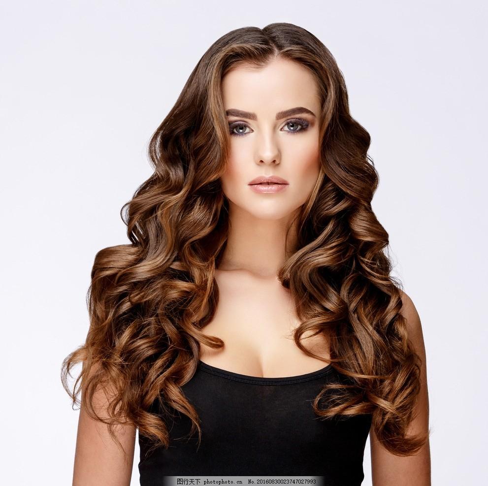 时尚造型 吹拉烫染 烫染 烫发 染发 离子烫 卷发器广告 卷发器 造型图片