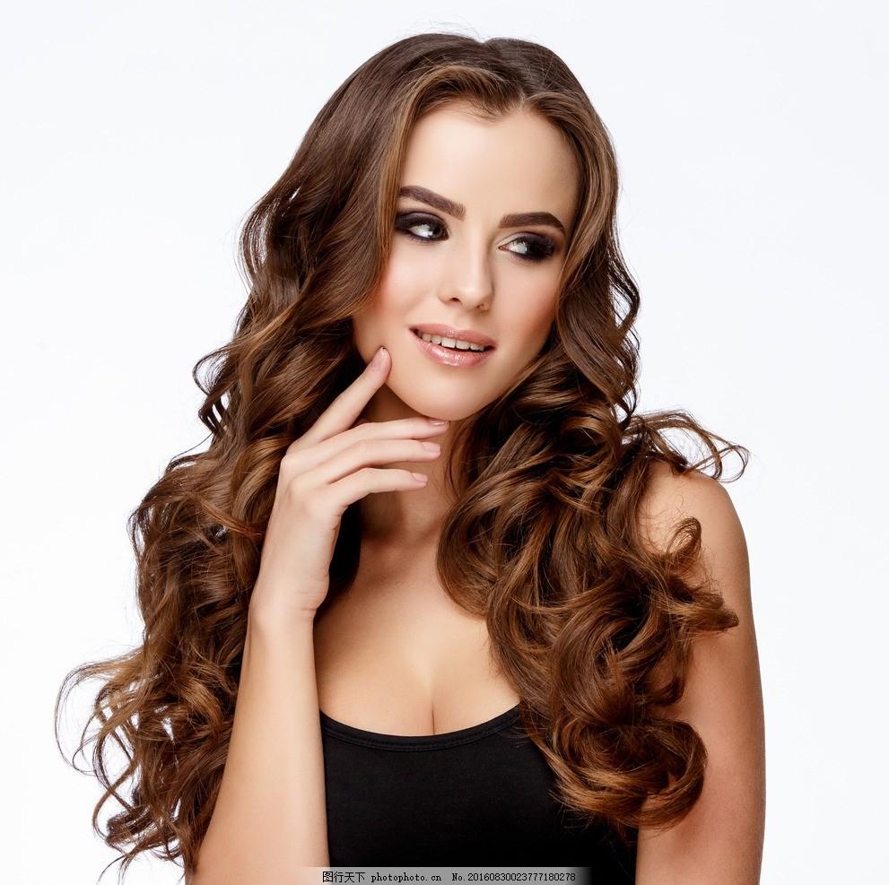 吹拉烫染 烫染 烫发 染发 离子烫 卷发器广告 卷发器 造型机构 长发
