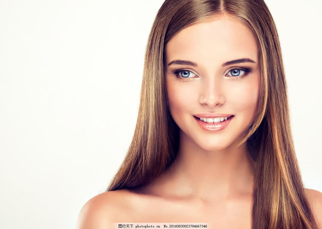 长发美女 棕发美女 棕长发美女 直发 长直发 棕长直发 气质美女