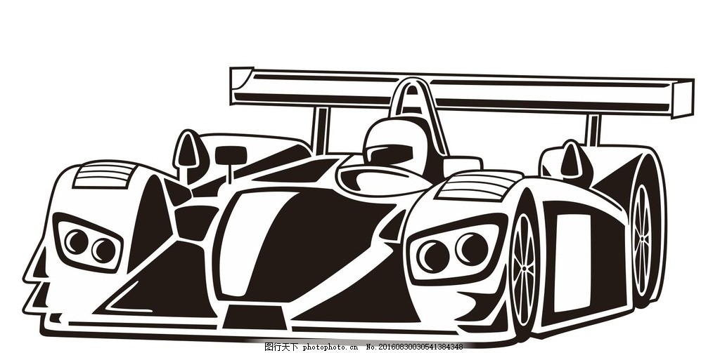简笔画赛车图片