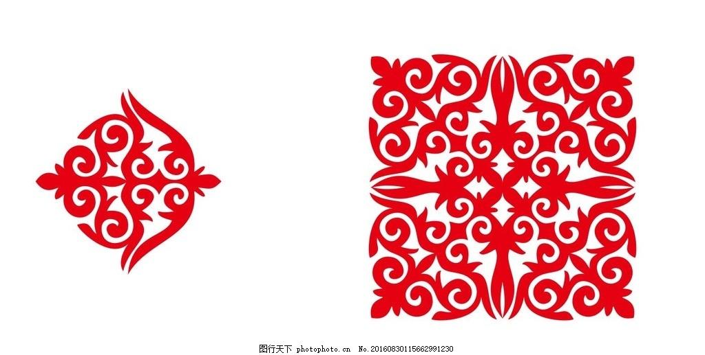 设计图库 高清素材 人物  新疆少数民族哈萨克族花纹 新疆哈萨克族
