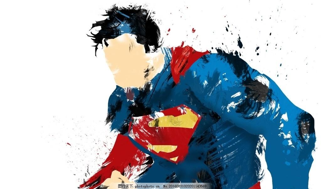 超人 涂鸦 手绘 cg 英雄 油画 设计 底纹边框 背景底纹 72dpi jpg