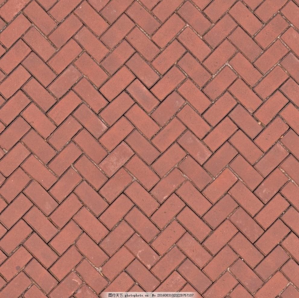 人字砖 人字形拼花 拼花地面 红灰拼花地砖 地砖材质 地砖贴图