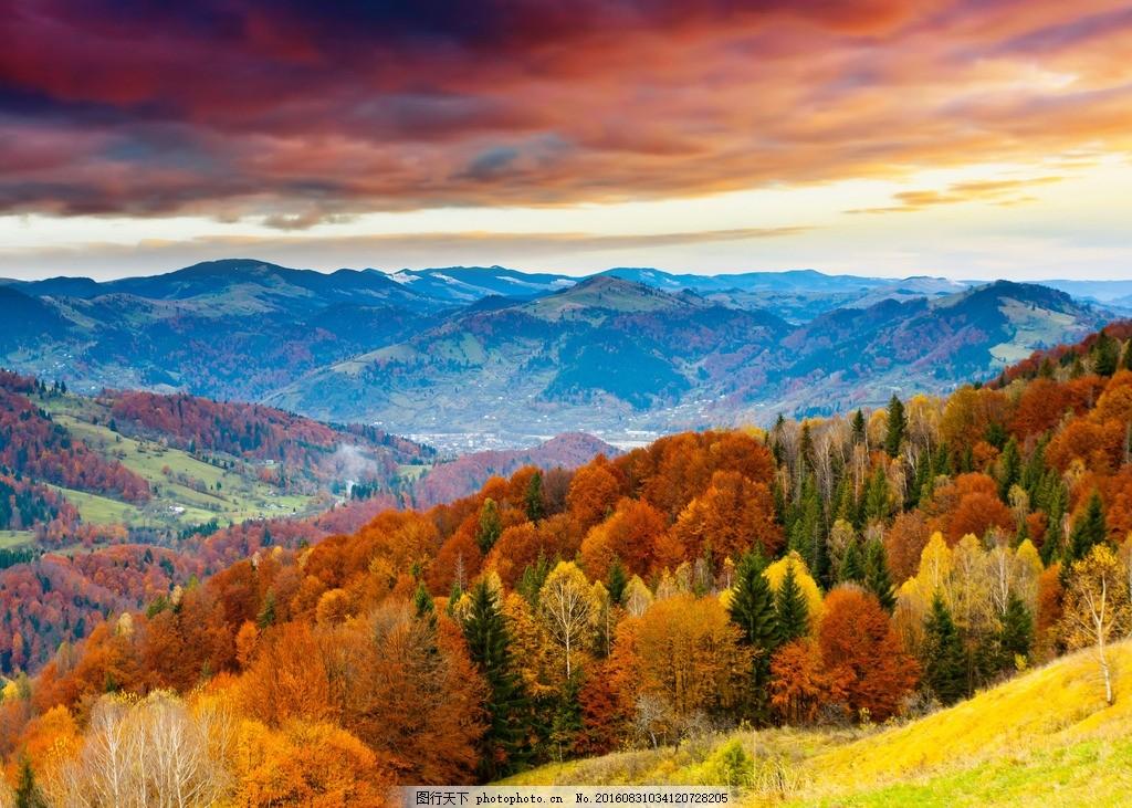 高山 多彩秋天 彩色秋天 彩色秋季 摄影 自然景观 自然风景 300dpi jp