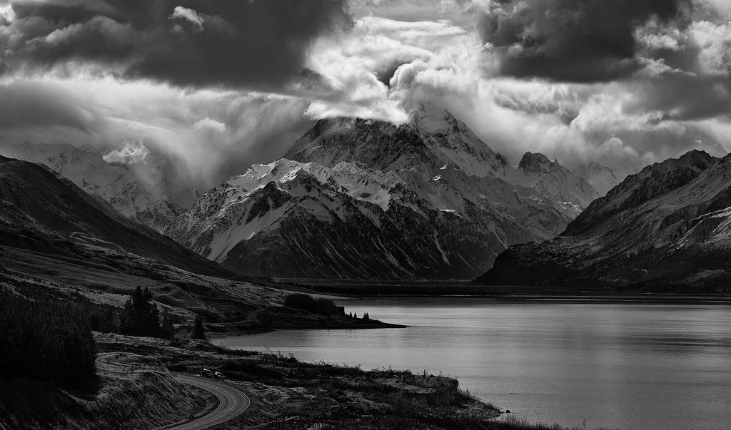 黑白山河 风景 湖泊 风光 摄影