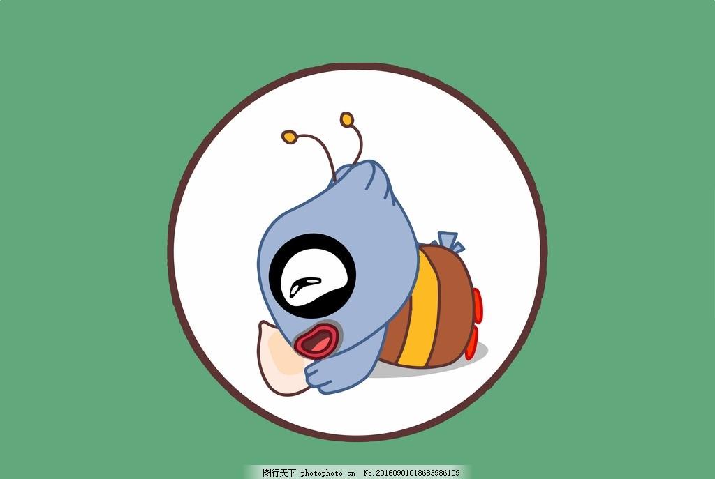 猫头鹰蜜蜂 猫头鹰 蜜蜂 米粒 可爱 呆萌 卡通 漫画 设计 动漫动画