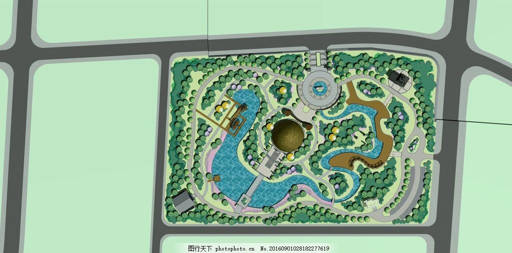公园彩色平面图