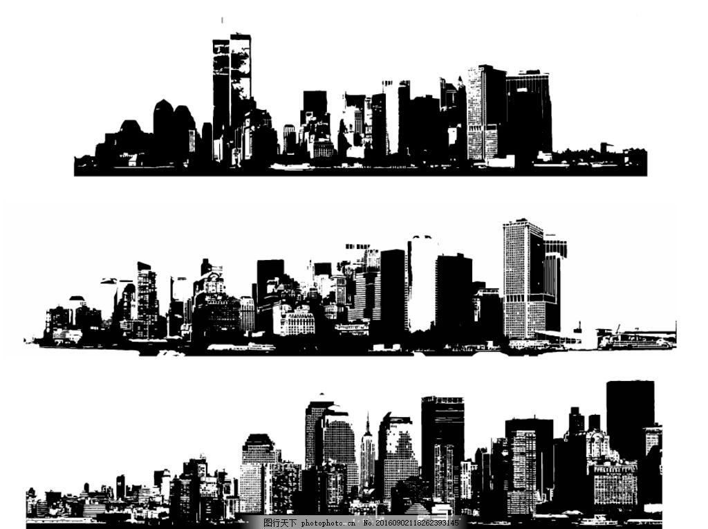 城市建筑 素描 欧洲建筑 城市风景 手绘 时尚 潮流 矢量素材