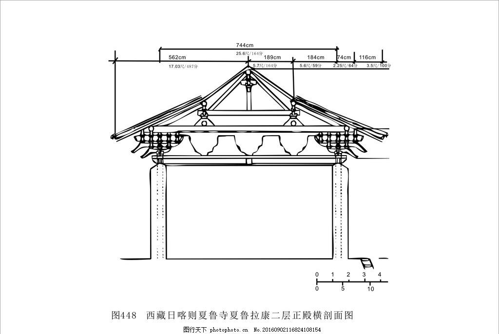 西藏建筑 藏式建筑 建筑图 cad图 线条建筑图 黑白建筑 设计 底纹边框