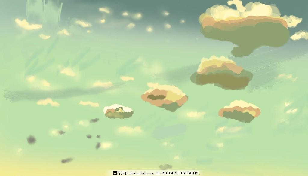 手绘天空 新海诚 动漫 绘画 云彩 动漫场景 背景 动漫动画