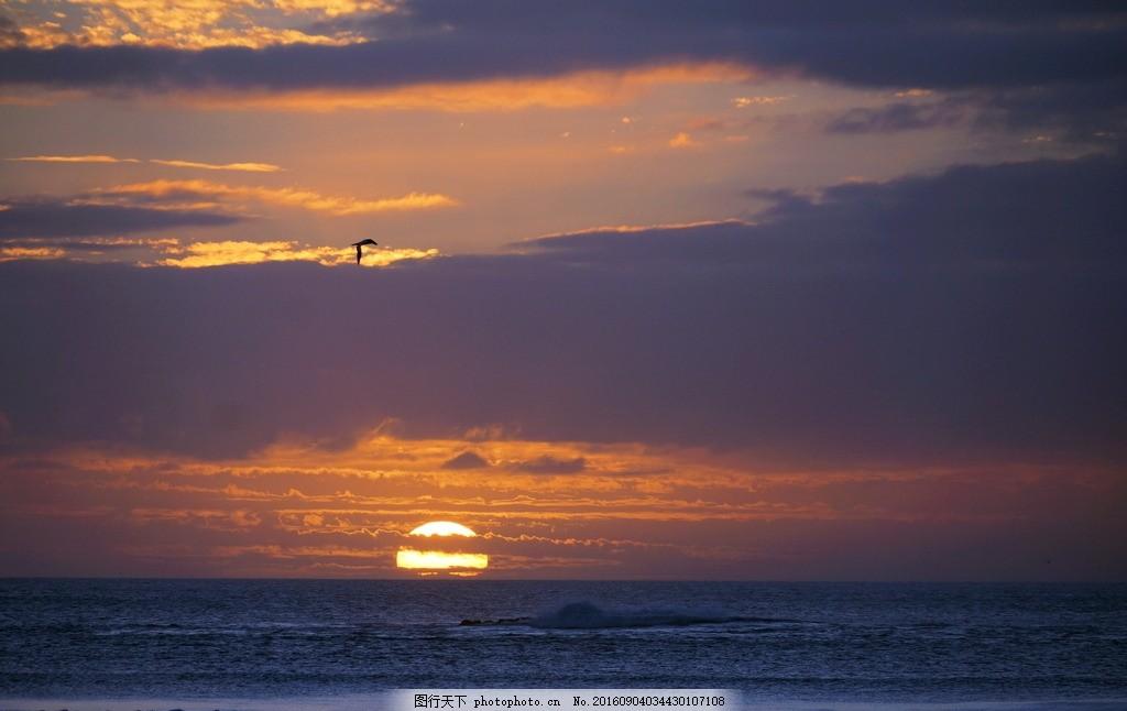 新西兰的日出 新西兰 海边 大海 日出 摄影 自然景观 山水风景 350dpi