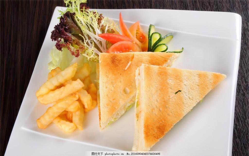 食物美食 西餐 汉堡 薯条 可乐鸡翅 优雅 高端 三明治 摄影