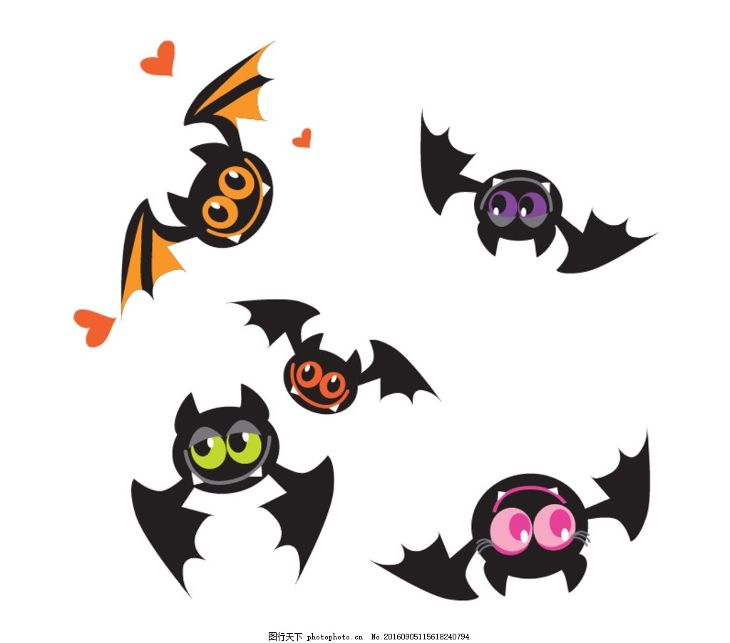 手绘素材 黑色蝙蝠素材 蝙蝠剪影 矢量蝙蝠 蝙蝠素材 黑色蝙蝠 卡通蝙