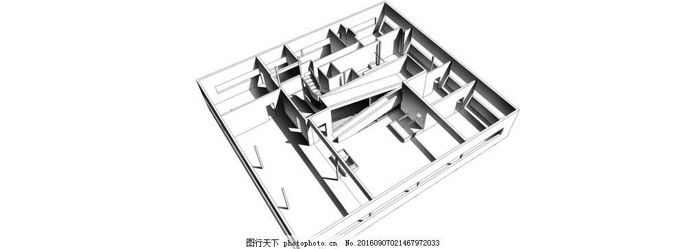 萨伏伊别墅过程钢构型h建造别墅形体图片