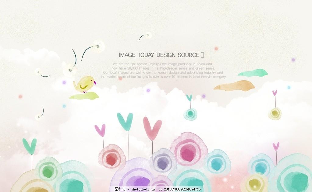 花邊信紙 韓式卡通 水彩化妝品 時尚背景 韓式水彩 水墨潑墨 手繪背景