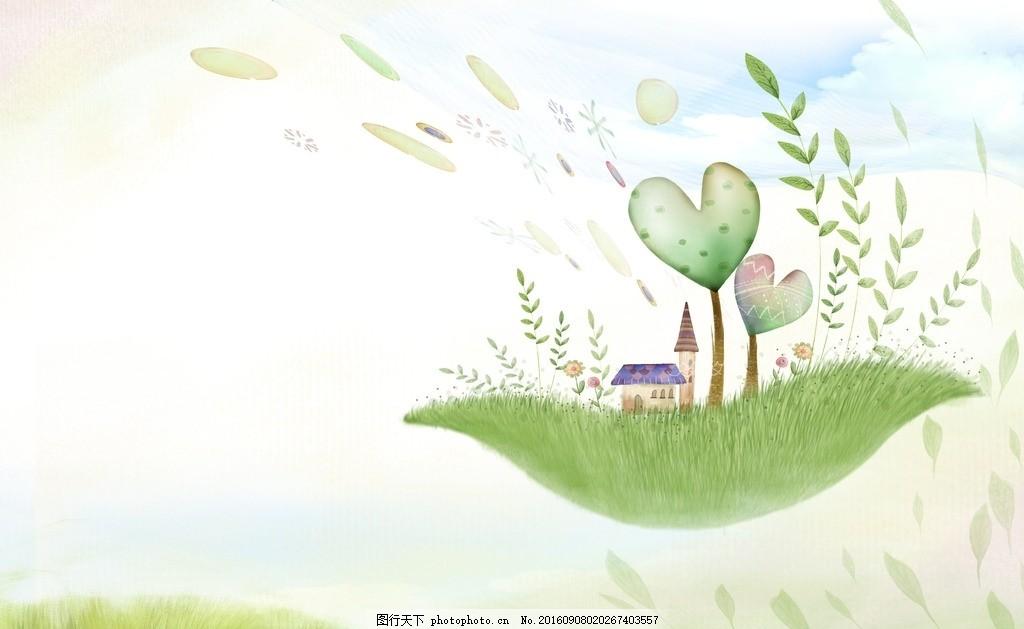 清新 设计 底纹边框 花边花纹 水墨 信纸背景 浪漫信纸 花边信纸 韩式