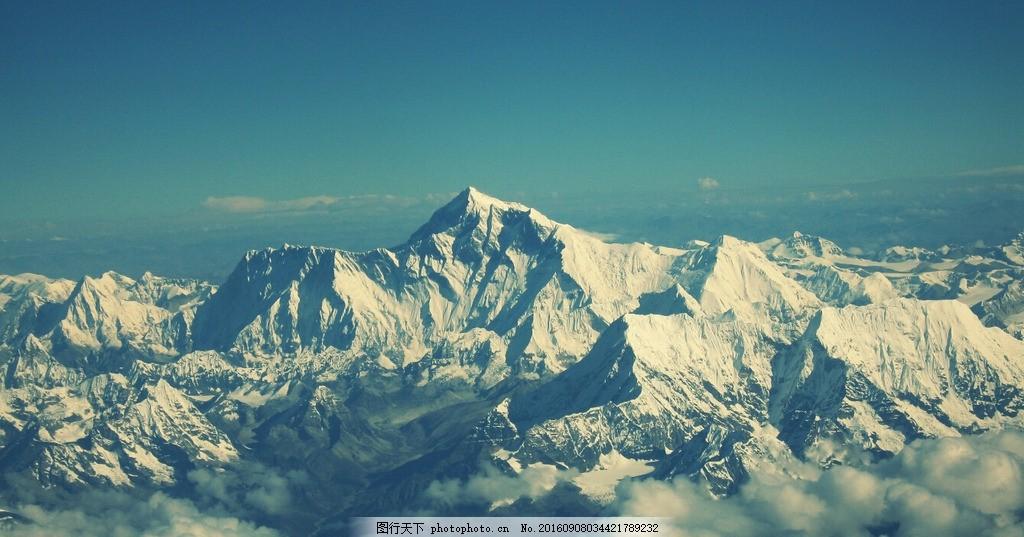 雪山 高峰 雪地 珠穆朗玛峰 雪景 山峰 摄影 自然景观 山水风景 96dpi