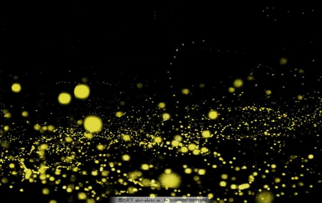 萤火虫 萤火虫素材 发光萤火虫 黄光萤火虫