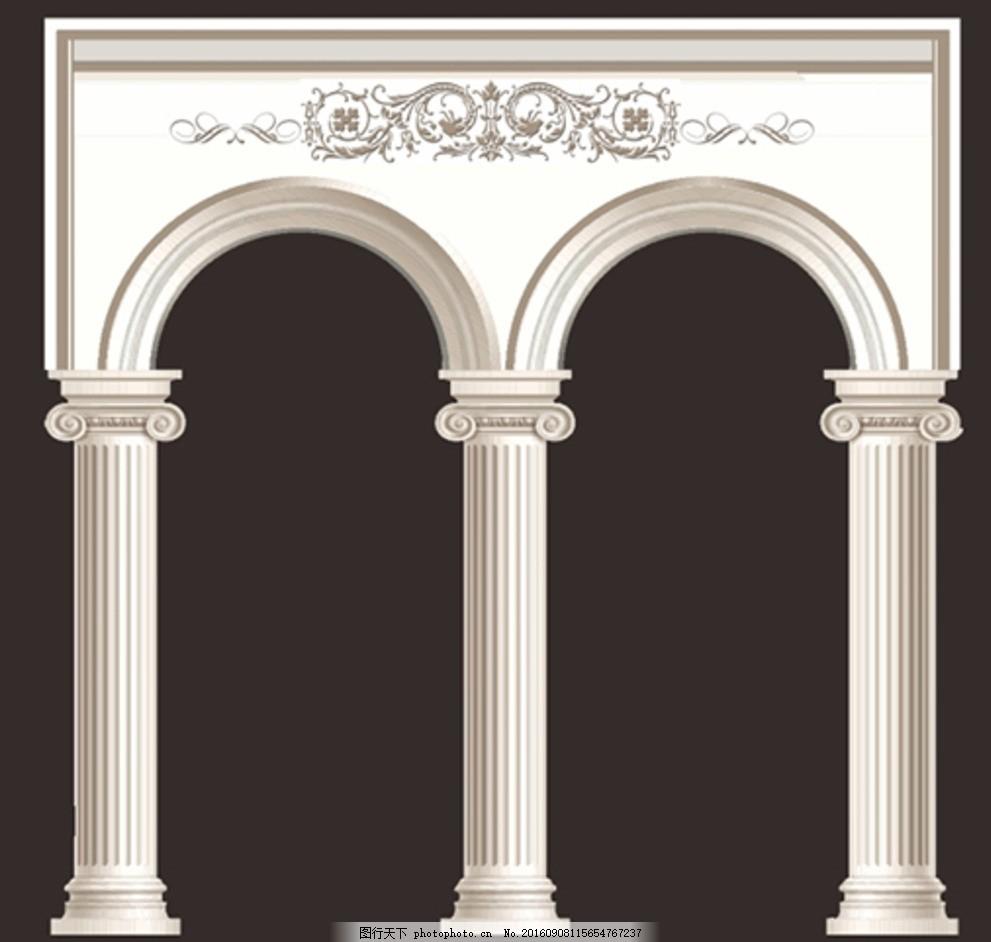 婚庆 花纹 金色 白色 花边 欧式花纹花边 门型 装饰 拱门设计 欧式 欧