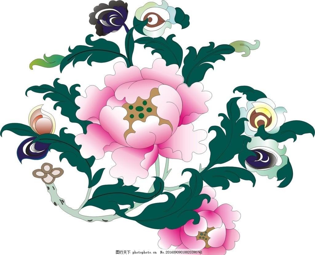 藏式 藏式莲花 莲花 藏式边框 矢量图 设计 文化艺术 传统文化 cdr