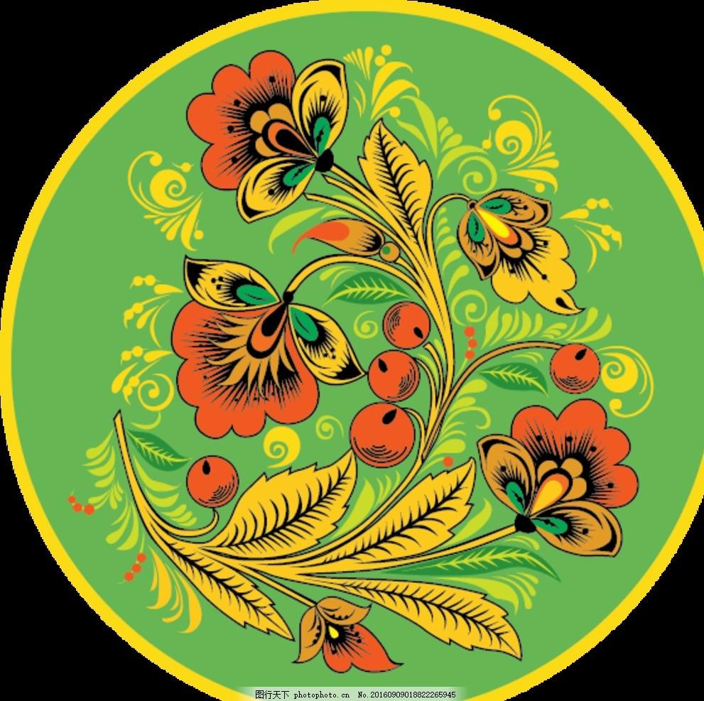 圆形矢量花朵素材 矢量花纹 矢量图案 矢量素材 精美矢量 炫酷矢量