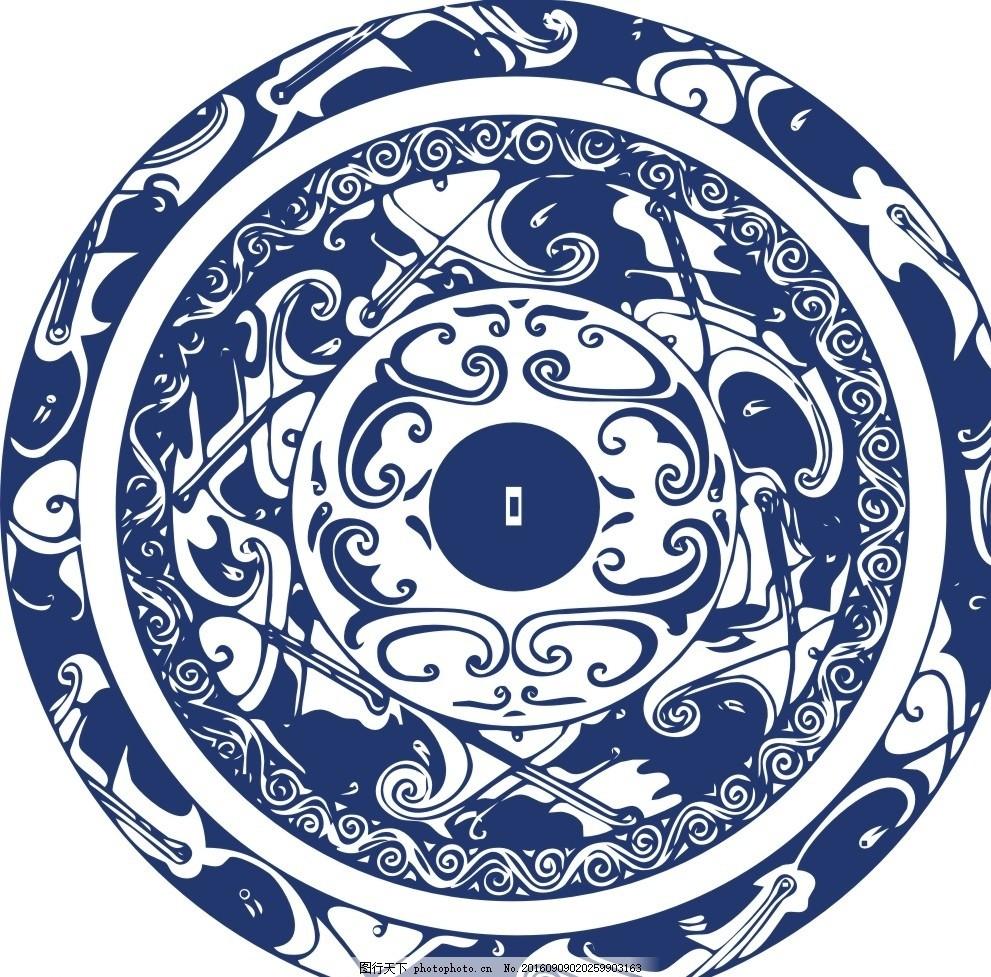 圆的花图案设计简单