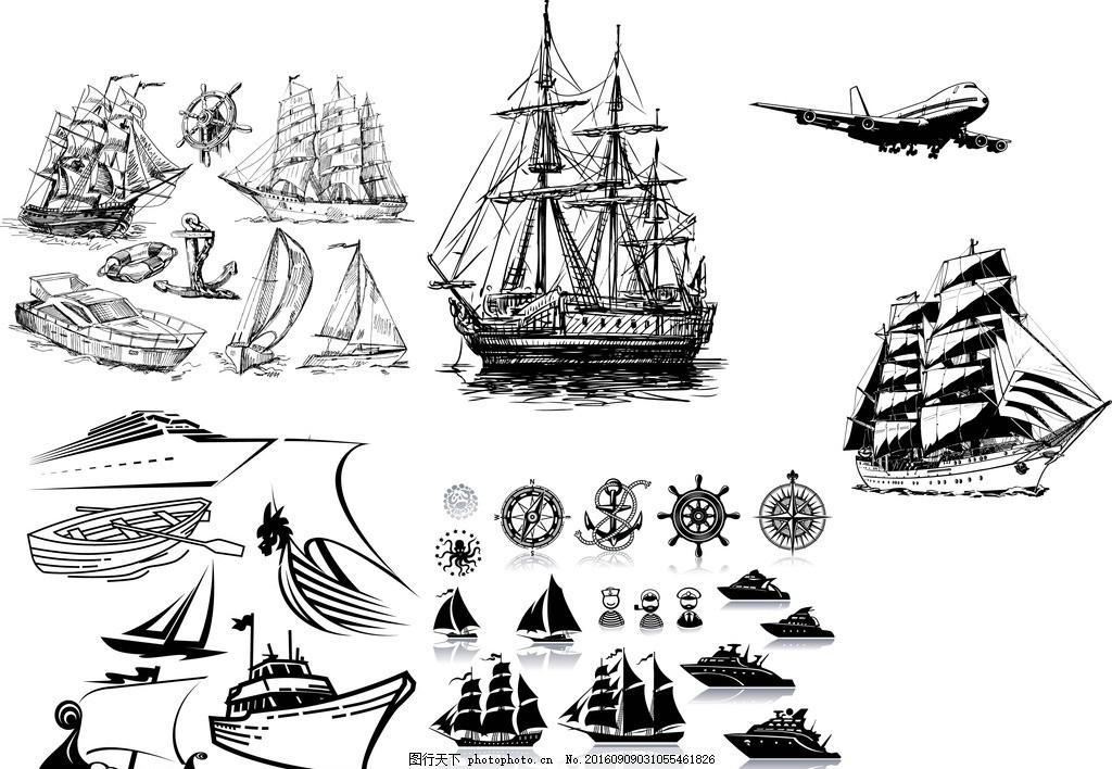 帆船图片手绘简笔画