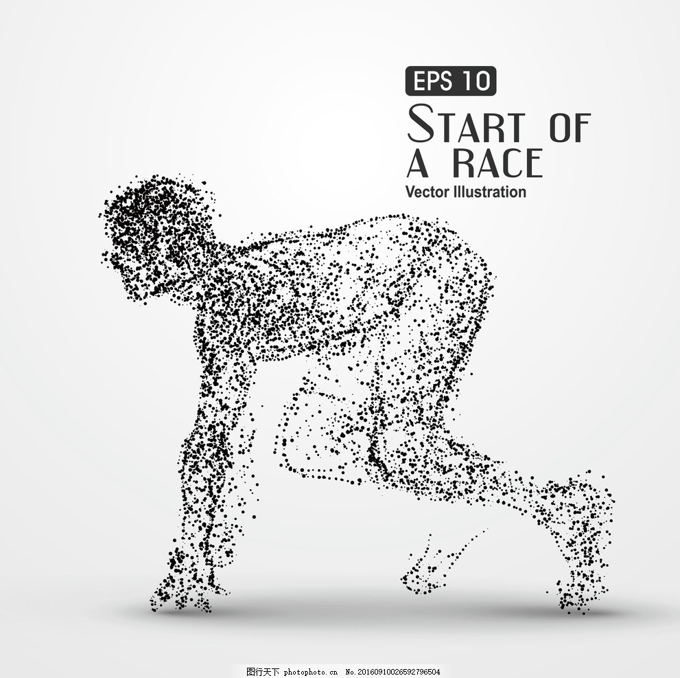 人物跑 创意 颗粒 散点 动物 剪影 矢量图 卡通 豹子 猛兽