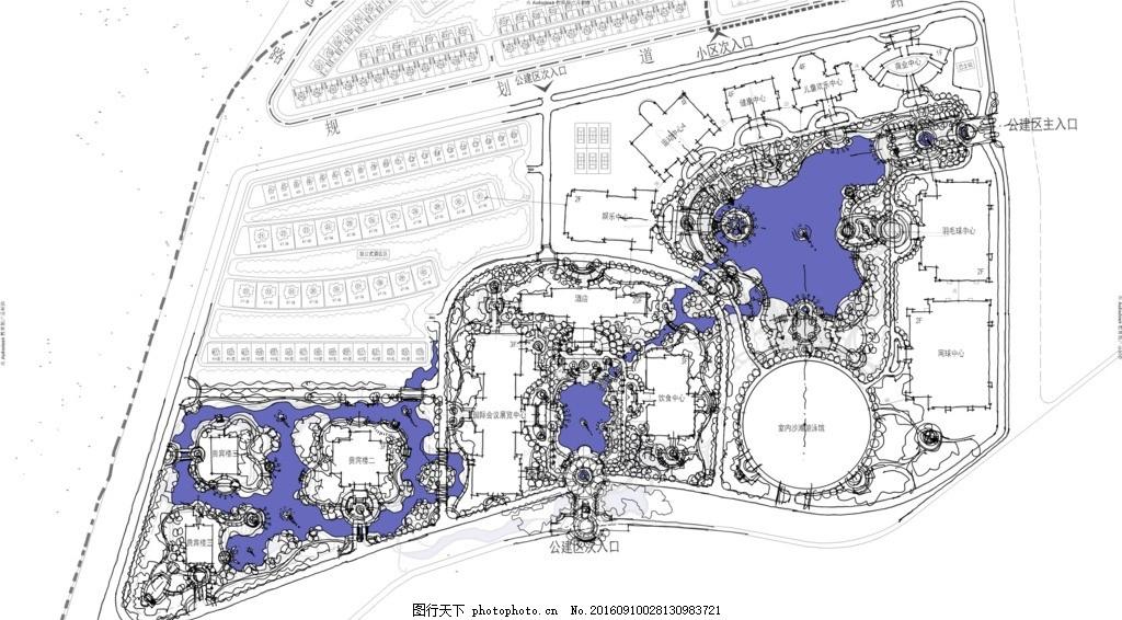 景观手绘方案 概念方案图 公园平面图 小区平面图 园林规划