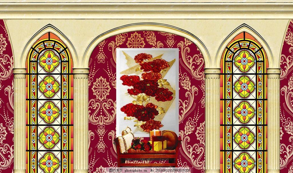 婚礼罗马柱 罗马柱 婚礼背景 欧式柱子 香槟柱子 罗马背景 花纹 高档