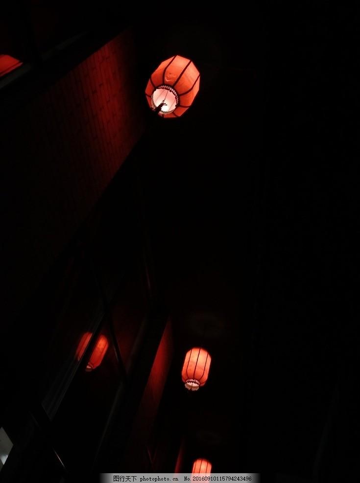 夜梦 夜 红灯笼 走廊 古风 古风元素 摄影 建筑园林 建筑摄影 72dpi
