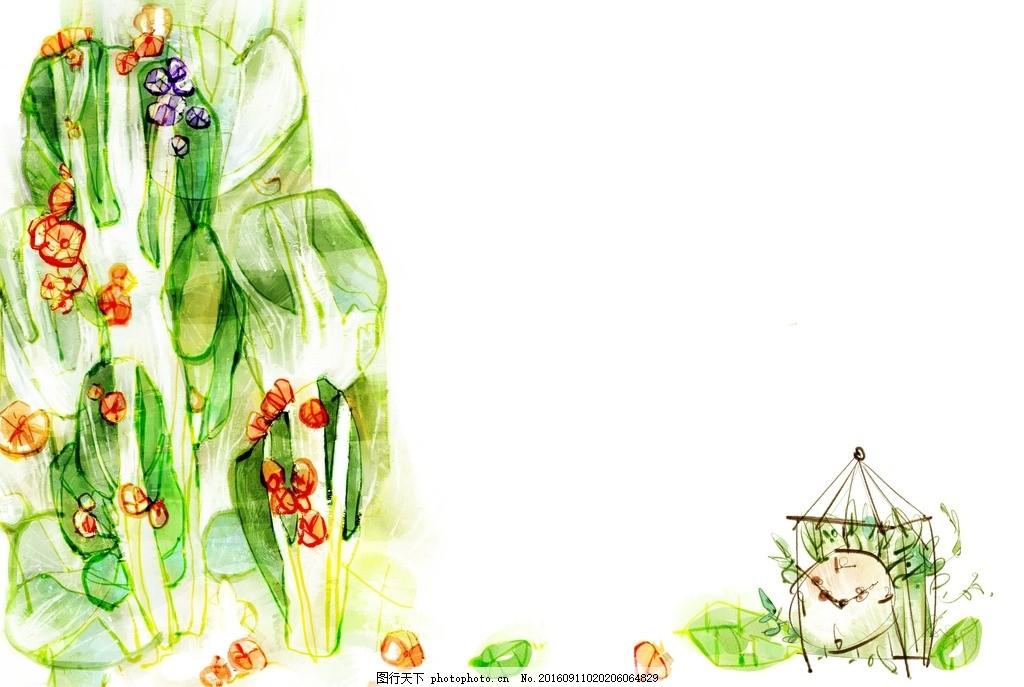 卡通唯美梦幻背景底纹图片