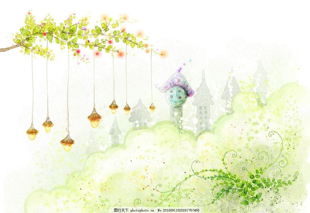 温馨背景 梦幻背景 花纹花朵 平面素材 花纹边框 小清新 设计 底纹
