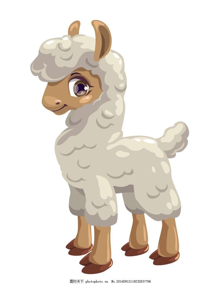 卡通羊 家畜 山羊 绵羊 动物 广告设计