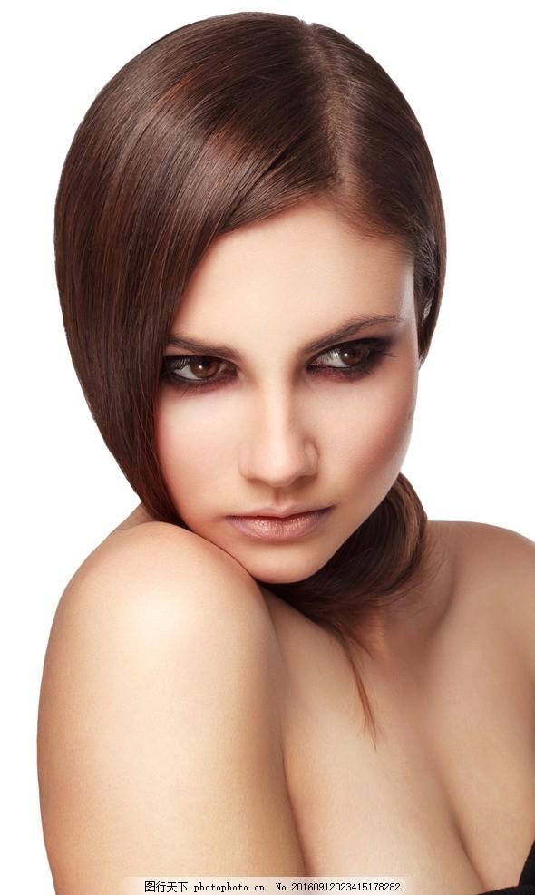 美发模特 发型 长发 秀发 头发模特 女性模特 国外美女 摄影图片