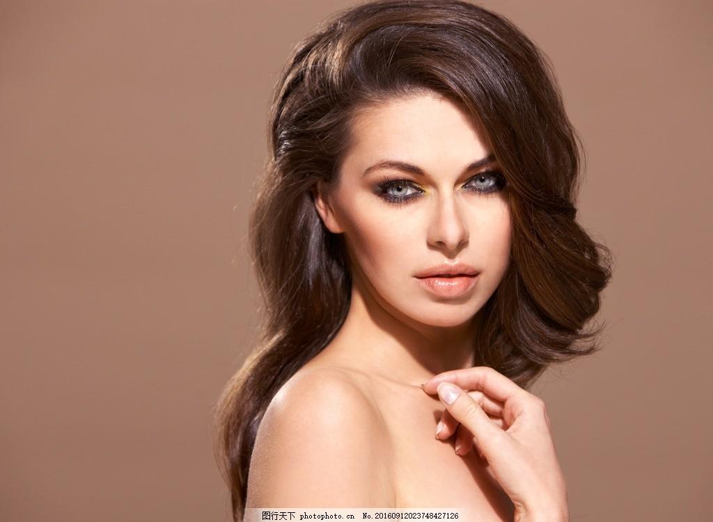 模特 美发模特 发型 长发 秀发 头发模特 女性模特 国外美女图片