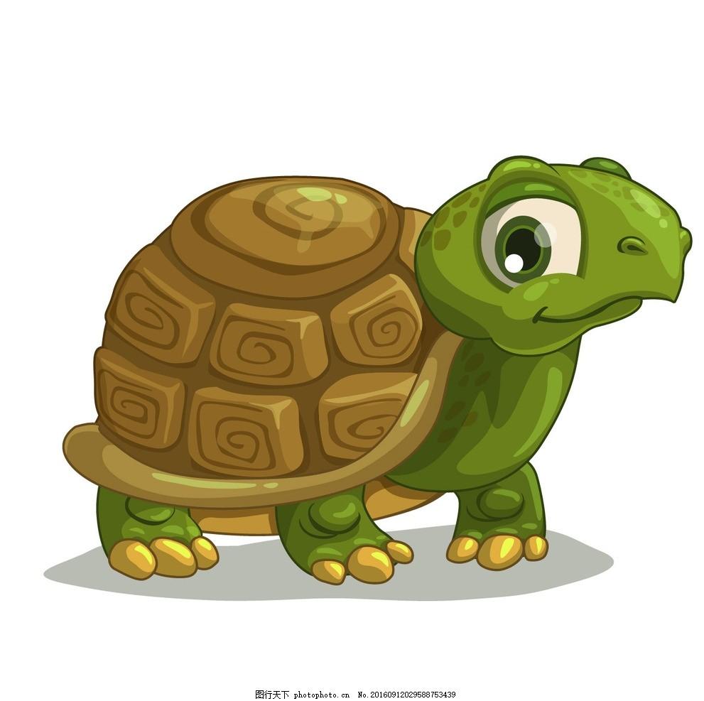 乌龟 卡通乌龟 水底生物 动物 爬行动物 两栖动物