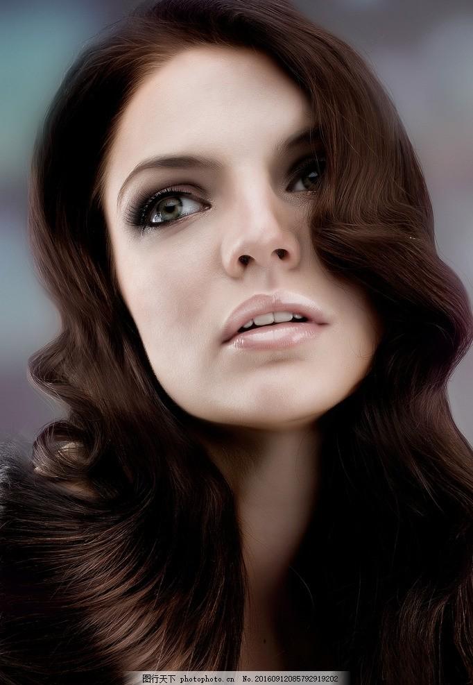 发型模特 美发模特 长发 秀发 头发模特 女性模特 国外美女 摄影