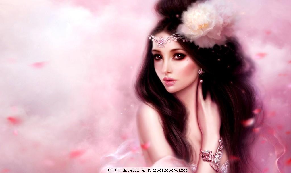 背景 摄影 人物图库 女性女人 印度美女 妖艳皇后 妖艳王妃 手绘性感