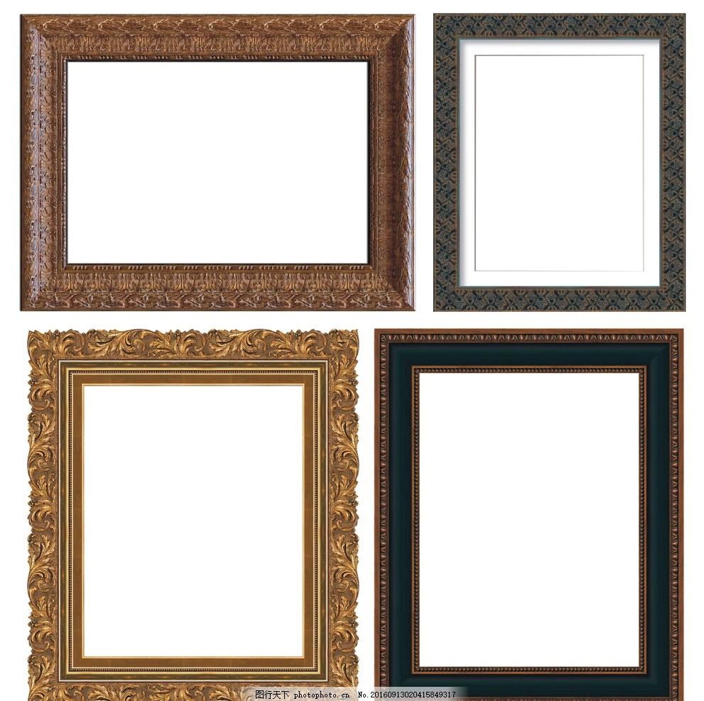 木头边框手绘背景