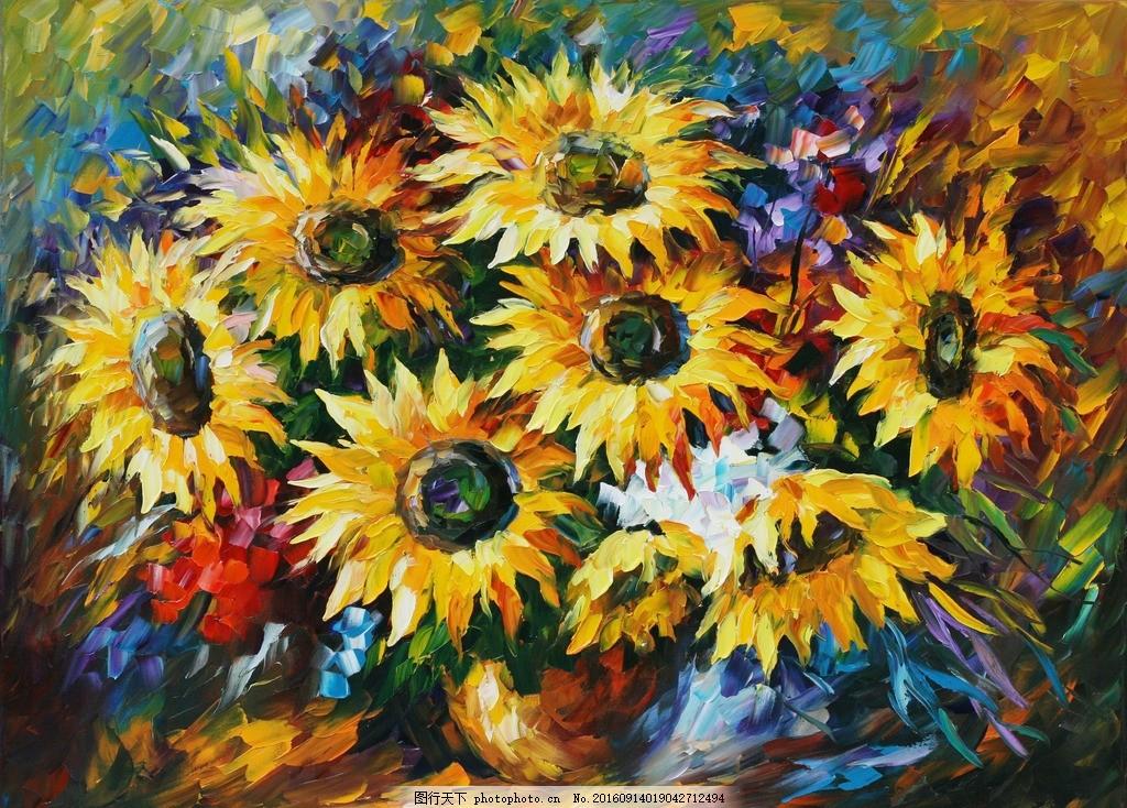 抽象风景油画 leonid afremov 油画 西方油画 印象画派 油画欣赏