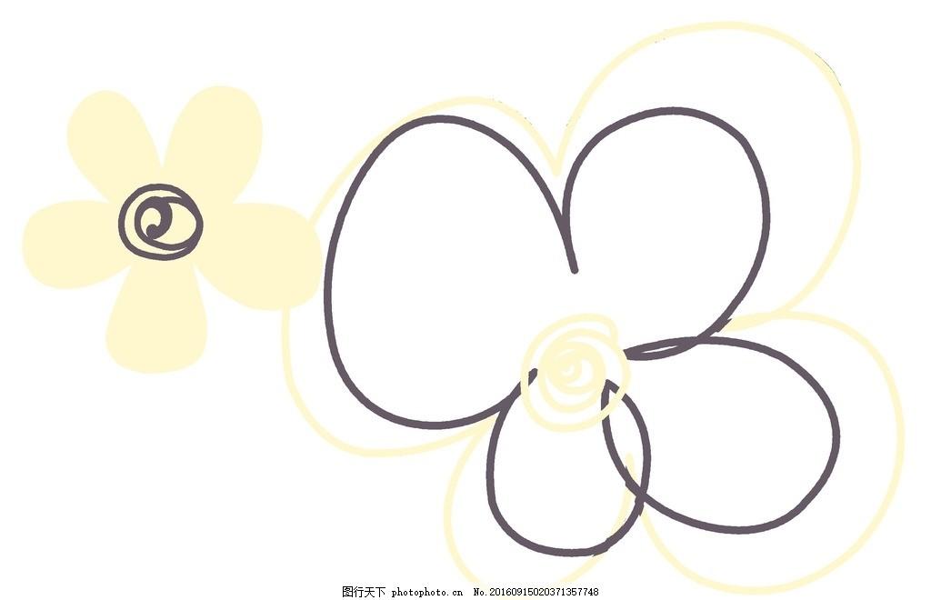 花纹花朵 平面素材 花纹边框 小清新 设计 底纹边框 花边花纹 信纸