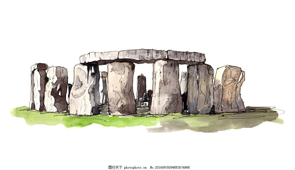 手绘风景画 手绘景观 手绘建筑画 速写 速写风景 速写手稿 设计 文化