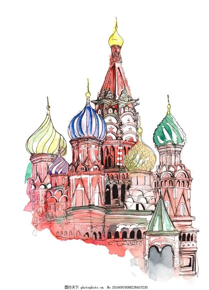 国外建筑手绘素材 环境设计 室内设计 手绘建筑 手绘图 手绘园林 手绘