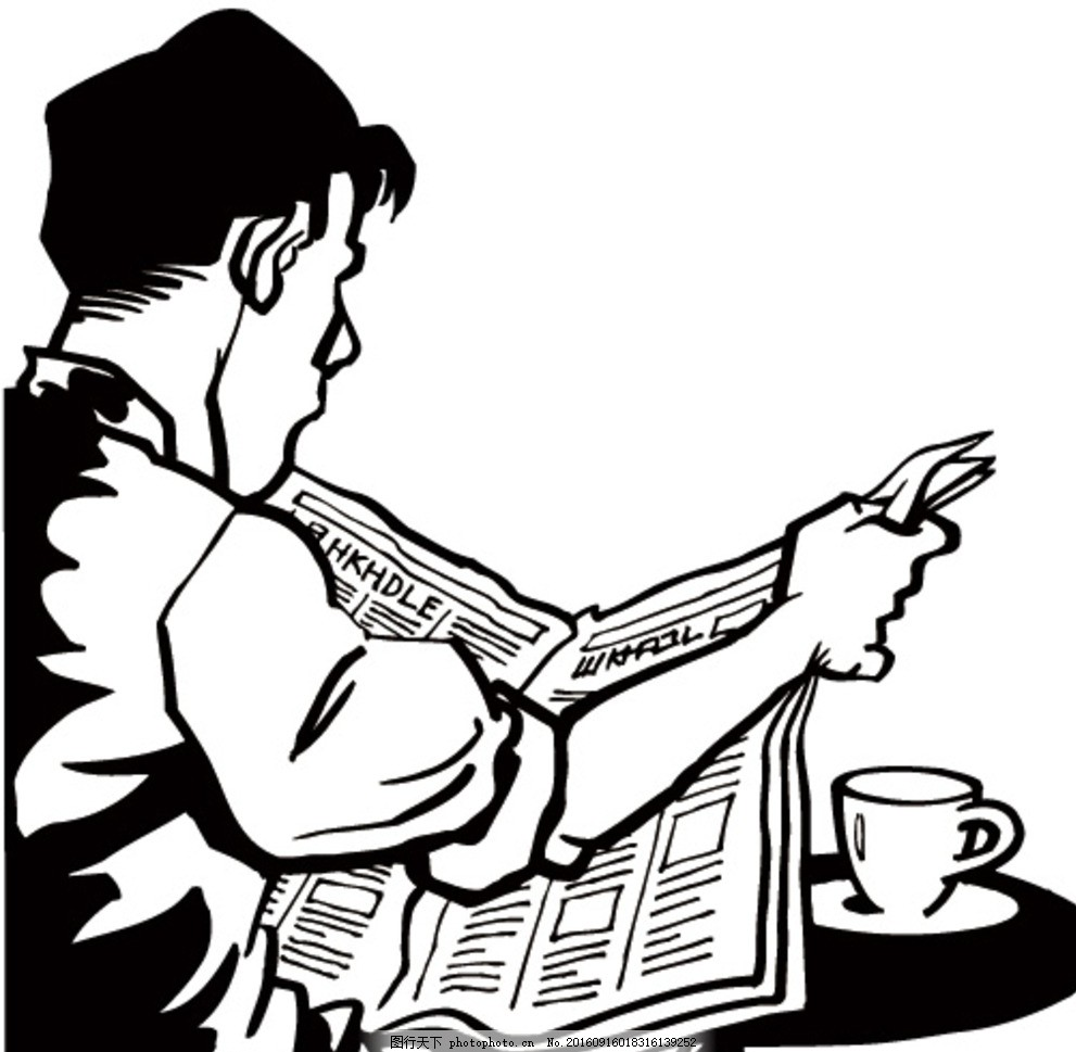 设计图库 动漫卡通 动漫人物  黑白漫画 线描插画 白描 插画 线描