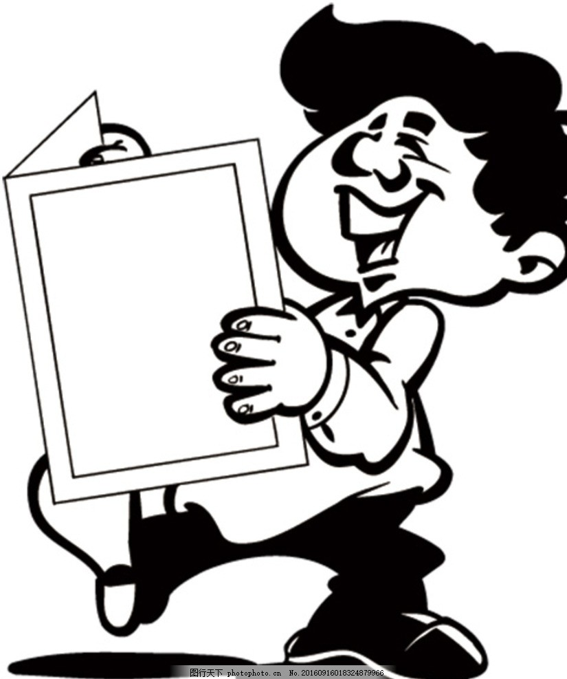 钢笔画 速写 手绘 插画素材 黑白矢量 设计 动漫动画 动漫人物 eps