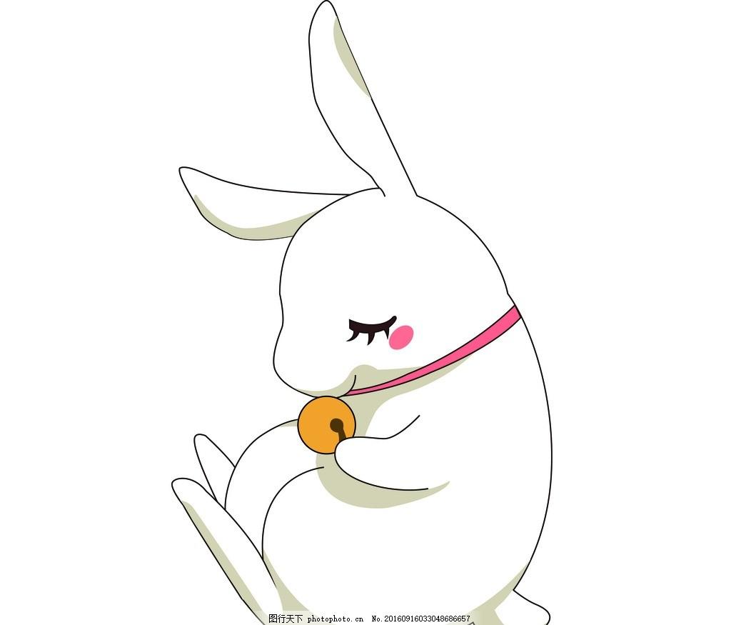 睡觉 卡通 动物 铃铛 兔子 玉兔 小兔子 卡通小兔子 卡通玉兔 可爱小