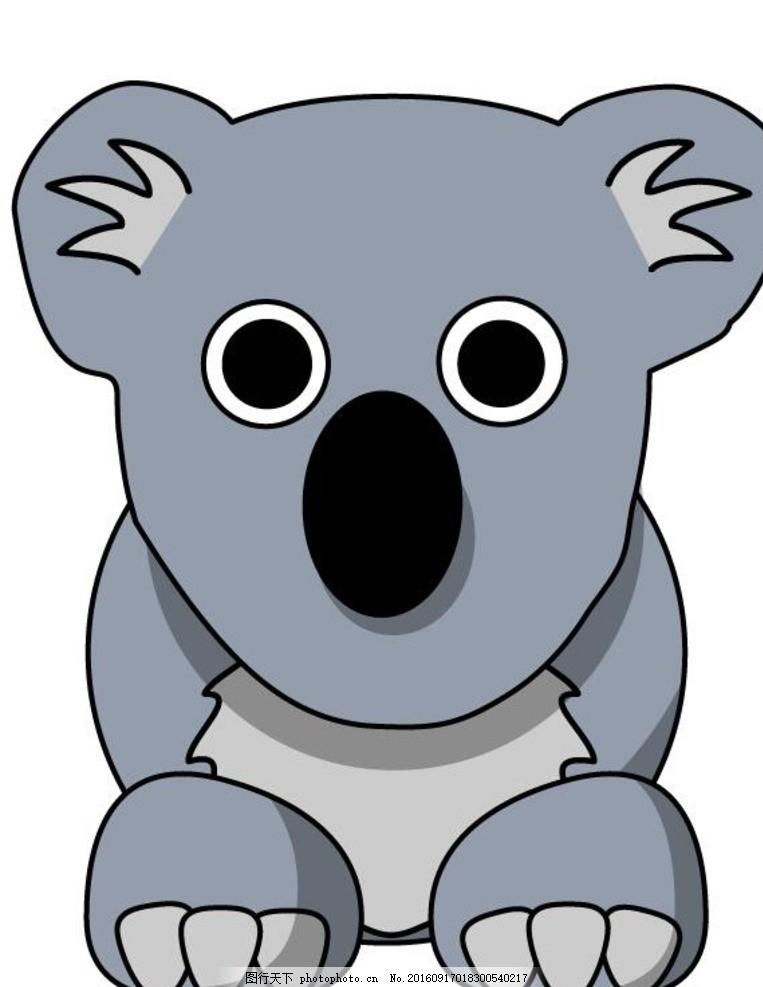 儿童画考拉 考拉 树熊 熊 小动物 动物 动物插画 动物漫画 简笔画