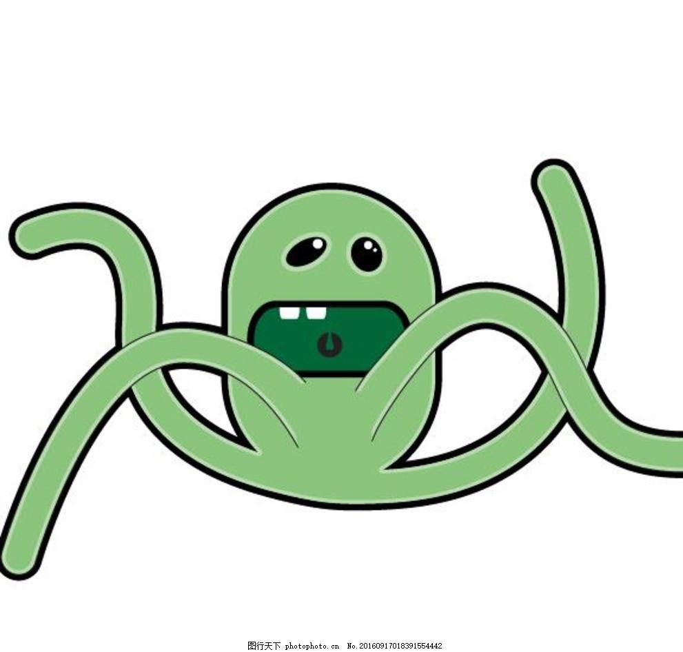矢量搞怪精灵 小妖怪 精灵图标 动物图标 可爱动物 卡通动物 动画卡通